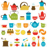 Tea time and coffee time Royalty Free Stock Photos
