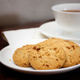 Tea time with cookies. A cup of tea with cookies Stock Image