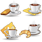 tea time cup coffee icon Royalty Free Stock Photos