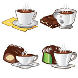 Tea time cup coffee icon Stock Images
