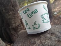 TEA TIME cup stock images