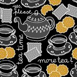 Tea time on dark Royalty Free Stock Photo