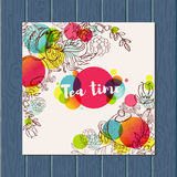 Tea time design banner templates set Stock Image