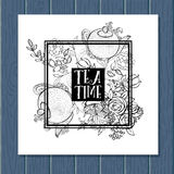 Tea time design banner templates set Royalty Free Stock Photo