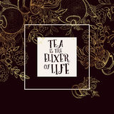 Tea time design banner templates set Royalty Free Stock Image