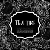 Tea time design banner templates set Royalty Free Stock Photography