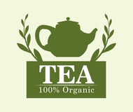 Tea time design Stock Images