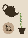 Tea time design Stock Photo