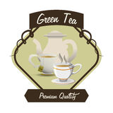 Tea time design Royalty Free Stock Image