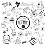 Tea Time- doodle elements set Stock Image