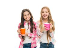 It is tea time. Drinking tea while break. Relaxing with drink. Tea break. Children do not drink enough during school day. Make sure kids drink enough water royalty free stock photos