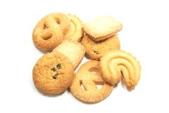 Tea Time English Danish Cookies Royalty Free Stock Image