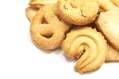 Tea Time English Danish Cookies royalty free stock images
