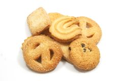Tea Time English Danish Cookies Stock Image