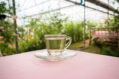Tea time in the garden Stock Photo