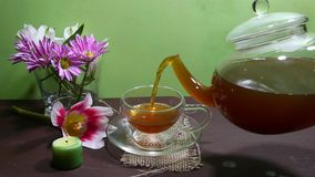 Tea time stock footage