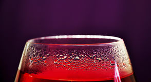 Tea time. Glass of strawberry Royalty Free Stock Image