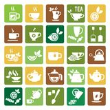 Tea Time Icons Stock Photos