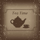 Tea time -  illustration Stock Photos