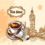 Tea time illustration Stock Images