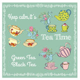 Tea time illustration. Royalty Free Stock Image