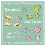 Tea time illustration. Royalty Free Stock Image