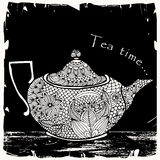 Tea time illustration Stock Photography