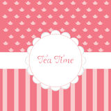 Tea Time Invitation Stock Image
