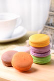 Tea Time and Macaron. This is colorful Macaron,and relase afternoon Stock Photos