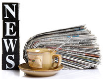 Tea time news Royalty Free Stock Photography
