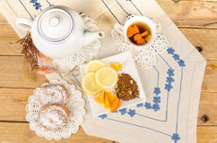 Tea time with orange rooibos Royalty Free Stock Photo
