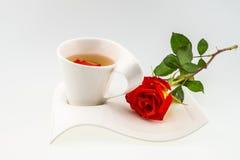 Tea time,orange rose theme Stock Image