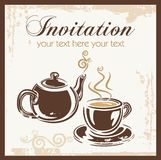 Tea time party invitation. With place for your text. Vector illustration Stock Photo