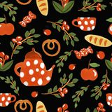 Tea time pattern royalty free illustration