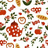 Tea time pattern stock illustration