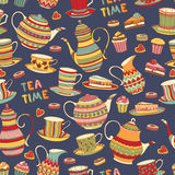 Tea Time Pattern Royalty Free Stock Photos