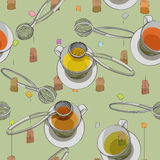 Tea time pattern Royalty Free Stock Photo