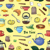 Tea Time Pattern Royalty Free Stock Images