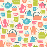 Tea time pattern Stock Photos
