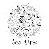 Tea time poster Royalty Free Stock Photography