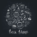 Tea time poster Stock Image