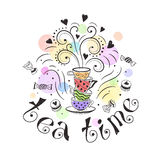 Tea time poster Royalty Free Stock Images