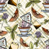 Tea time seamless pattern Royalty Free Stock Image