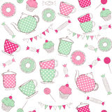Tea time seamless pattern Stock Image