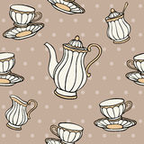 Tea Time Seamless Pattern Royalty Free Stock Photography