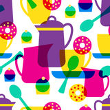 Tea time seamless pattern Royalty Free Stock Image