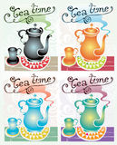 Tea time set Royalty Free Stock Images