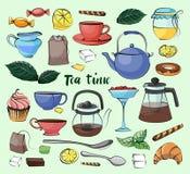 Tea Time Set Stock Images