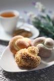 Tea time snacks Royalty Free Stock Image