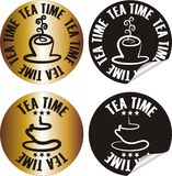 Tea time stamp Royalty Free Stock Photo